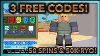 [046] 3 FREE CODES!|50 SPINS & 50K RYO!|ROBLOX Naruto RPG- Beyond |