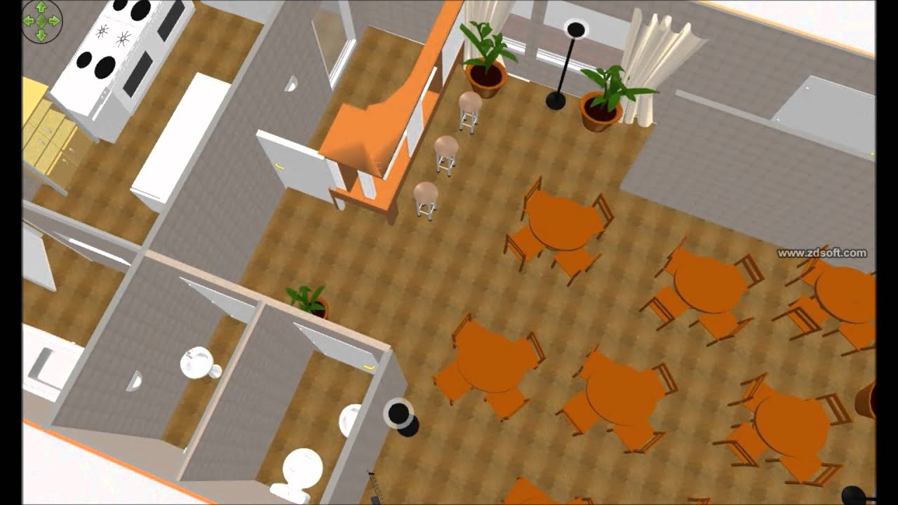 Layout Delicatessen E Cafeteria 3d Youtube