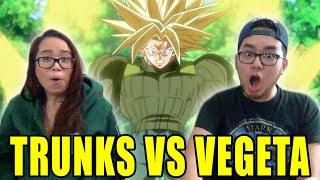 DRAGON BALL SUPER English Dub Episode 54 TRUNKS VS VEGETA REACTION & REVIEW