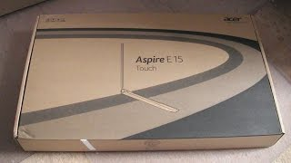 Acer Aspire E 15 touch E5-571P-3789 unboxing and review