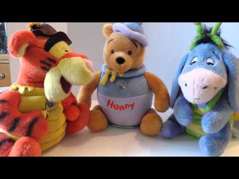 Lot  of 3 winnie the pooh plush musical mech toys
