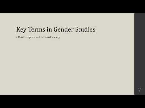 M3L1   Introduction to Module 3, Key Terms in Gender Studies
