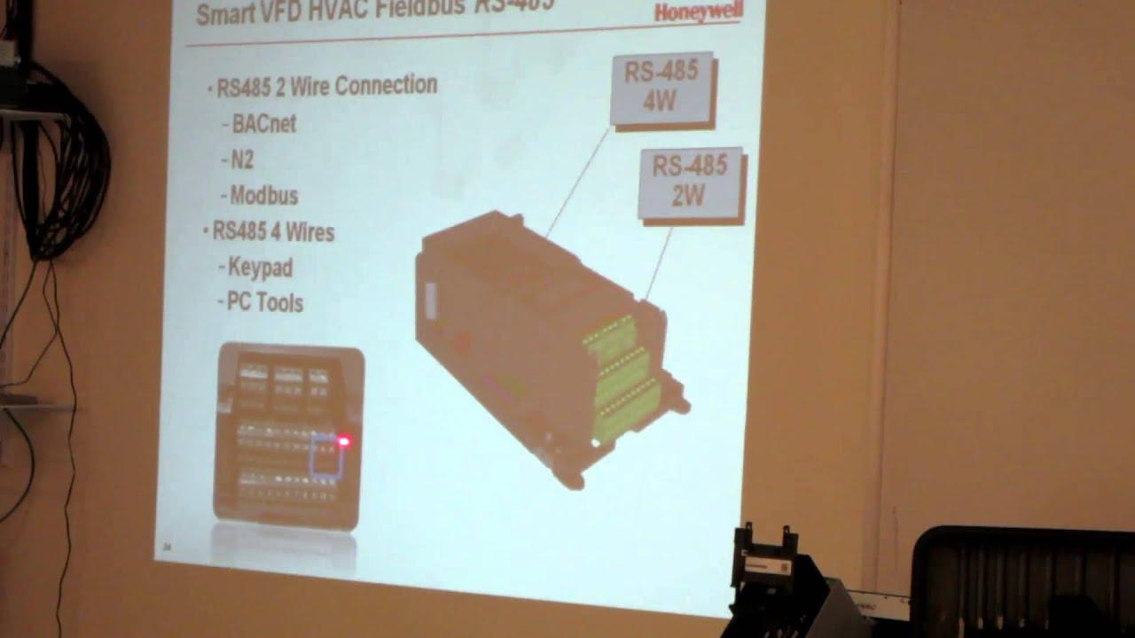 Honeywell Smart Core Vfd Training Class Part 5 Youtube 2wire Modbus 485 Wiring