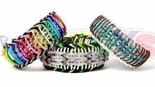 Super Stripe Fishtail - Rainbow Loom Bracelet Tutorial - One Loom Advanced Evolved Sailors Pinstripe