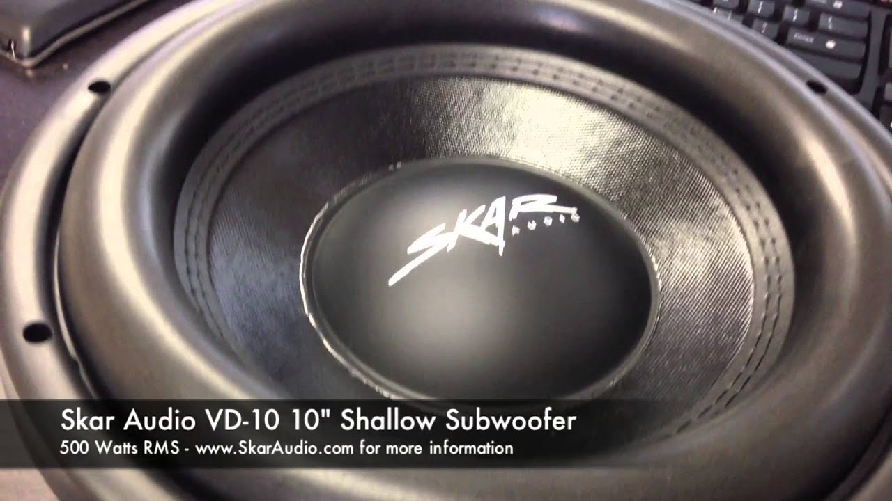 "500 Watt Skar Audio Vd-10 Unboxing (500 Watt Rms / 10"" Shallow"