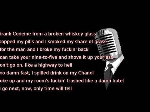 Post Malone - Broken Whiskey Glass (lyrics)