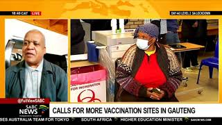Growing calls for more vaccination sites in Gauteng