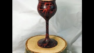 Wood Turning - How To Colour a Goblet using Hot Melt Glue