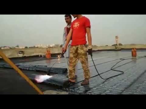 Bitumen Membrane Roof Waterproofing Pakistan Youtube