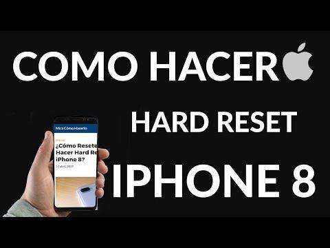 ¿Cómo Resetear o Hacer Hard Reset a un iPhone 8?