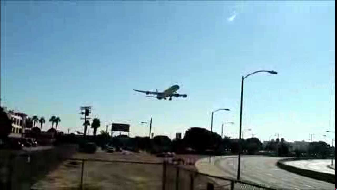 Lax Landing 24r A340 600 China Eastern Airlines Flight