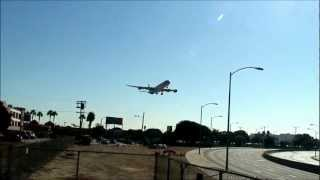 Lax landing 24R A340-600 China Eastern Airlines [Flight 583 from Shanghai to LAX]