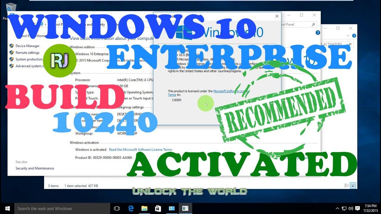Activate windows 10 enterprise build 10240 online youtube activate windows 10 enterprise build 10240 online ccuart Choice Image