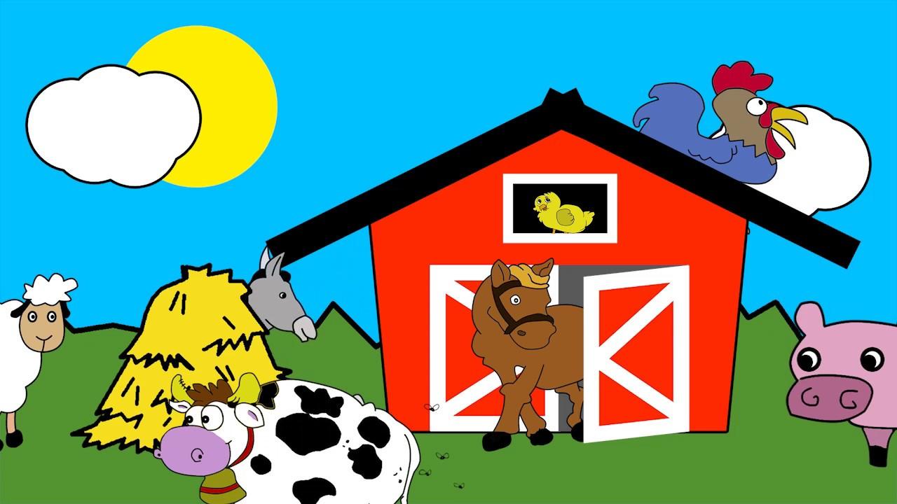 Inglés para niños Animales de la granja (Farm animals) YouTube