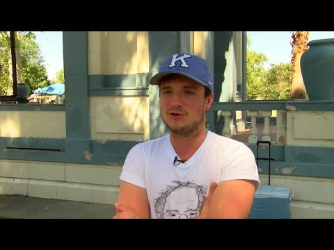 Josh Hutcherson interview from Bernie Sanders rally in Bakersfield