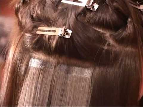 Легкий способ наращивания волос.Наращивание 3D - YouTube