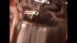 Ленточное наращивание волос в салоне Hair-Vip!(Выполнение процедуры ленточного наращивания волос Hair Talk., 2012-04-16T08:33:05.000Z)