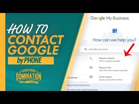 How To Contact Google Support FOR BUSINESS QUESTIONS - Customer Care By Phone (Get A Live Person!)