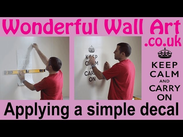 How to apply a simple wall decal (vinyl sticker) in under 10 mins