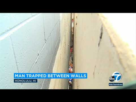 Man gets trapped between 2 buildings in Honolulu, Hawaii I ABC7