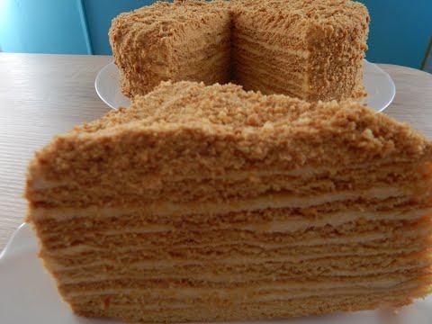 Заварной крем рецепт для медового торта в домашних условиях