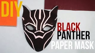 3D Mask | How to make a Black Panther paper mask