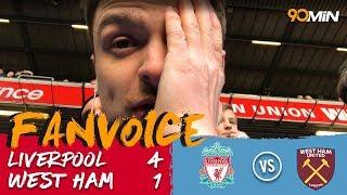 Liverpool 4-1 West Ham | Can, Salah, Firmino & Mané goals mean Liverpool smash West Ham! | FanVoice