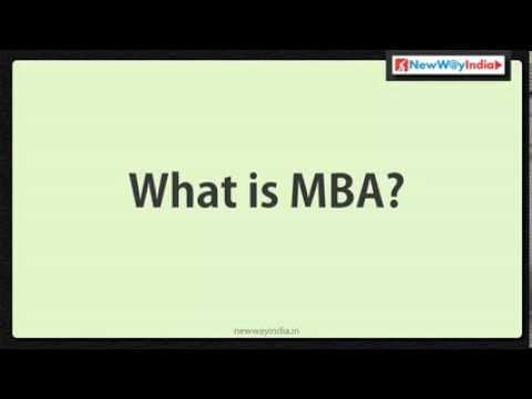 MBA 101 - What is MBA? - Best MBA Lectures for Beginners / MBA Aspirants (#001)