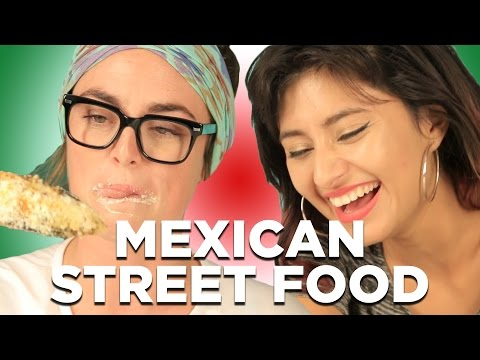 People Try Mexican Street Food 2020