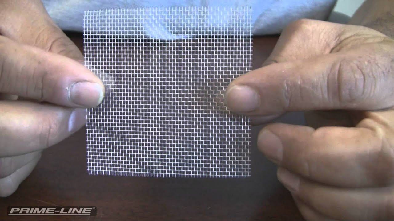 Repairing holes in your window or door screen youtube for Home depot screen replacement