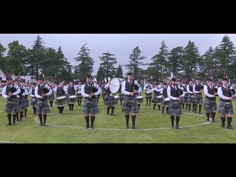 Scottish Power Pipe Band at the 2016 Europeans in Forres