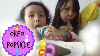 Cemilan Anak ♥ Es Loli Oreo - Oreo Popsicle | with English Subtitles