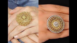Gold finger ring latest design/Rings design for female/Finger rings images/Initial gold rings 2018