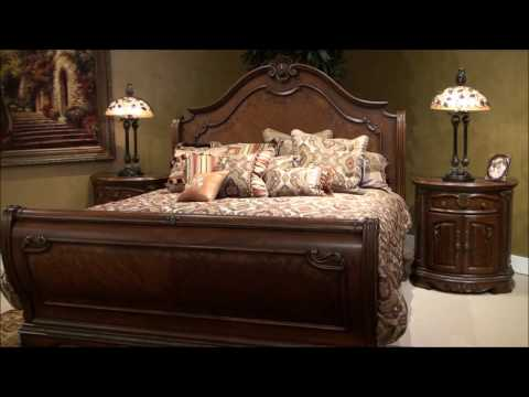 Bella Veneto Sleigh Bedroom Set by Michael Amini Furniture