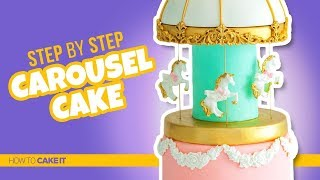 How To Make A BEAUTIFUL Carousel Cake by Joni Kwan | How To Cake It Step By Step