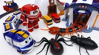 Monster Bugs Alert!! Go Robot Train Protect Your Passengers