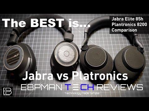 Jabra Elite 85h ANC vs Plantronics 8200 UC  Best Call Quality Goes to...