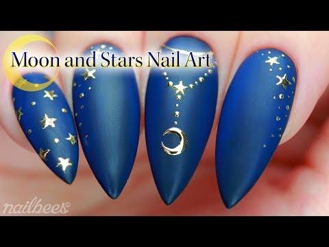 Moon And Stars Nail Art