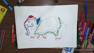 Kalamkari Art Elephant- By Sanchit Gupta - Weekly Challange