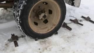 видео самодельные цепи на колеса