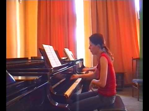 Mozart Piano Sonata D-dur for two pianos KV 448 mov.3 - Anastasia and Liubov Gromoglasova