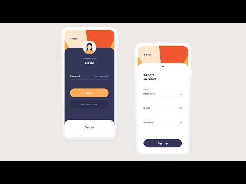 #2 Sign In / Sign Up UI 2019 The Best UI Design Using Android Studio Full Tutorial With Source Code