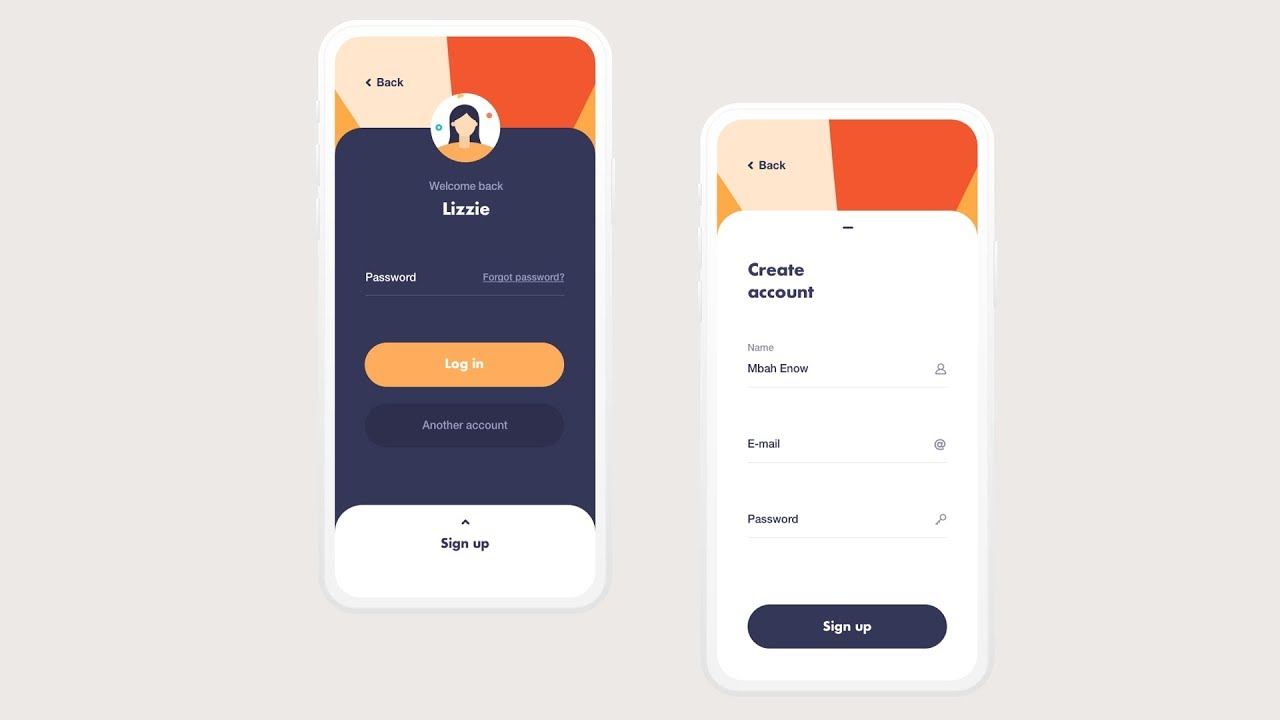 20 Sign in / Sign up UI 20019 The best UI design using Android ...