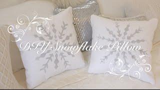 DIY Snowflake Pillow Thumbnail