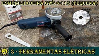 """Ferramentas Elétricas / Esmerilhadeira Pequena 4.5"""" GWS 6-115 Bosch"""