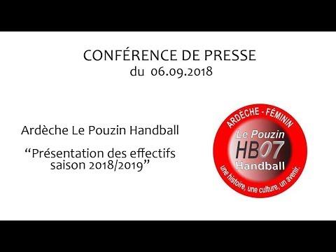 Présentation de l'effectif 2018 2019 de Le Pouzin Handball