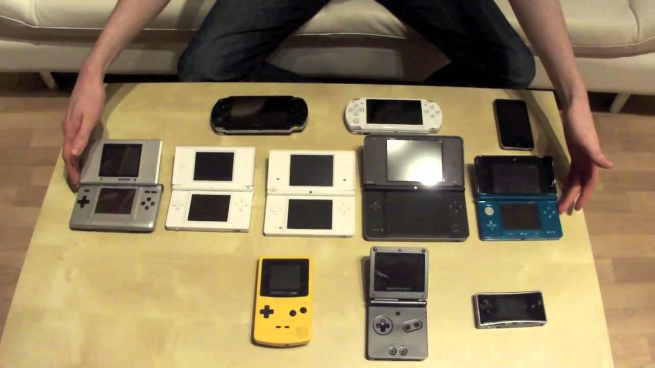 nintendo 3ds size comparison ds dsi ds lite dsi xl gba and more youtube. Black Bedroom Furniture Sets. Home Design Ideas
