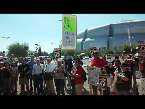 Protest against Offensive Native Mascots in Glendale