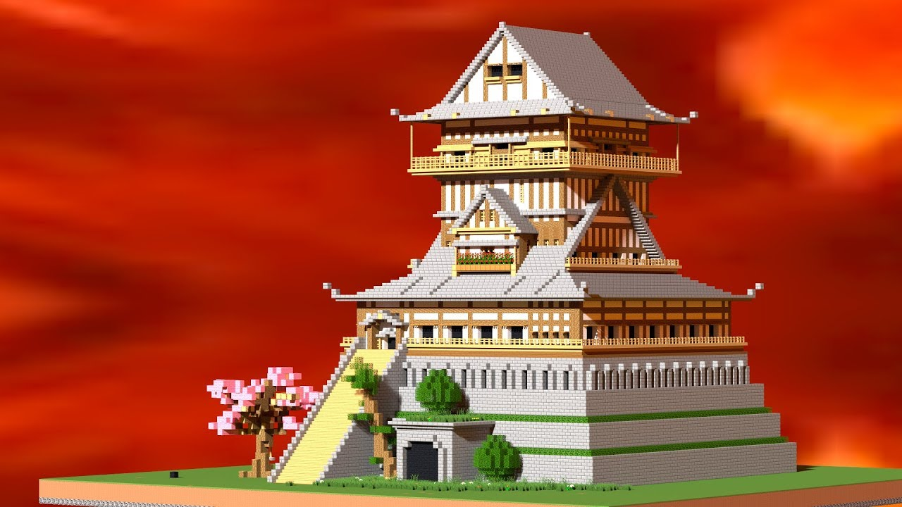 Minecraft How To Build A Japanese Castle Castle Tutorial