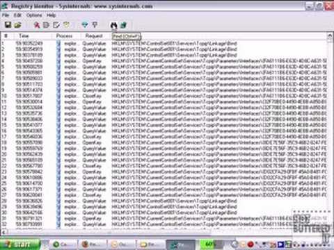 Monitor your Windows Registry Using Regmon
